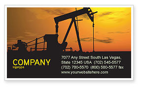Oil Producer Business Card Template, 03444, Utilities/Industrial — PoweredTemplate.com