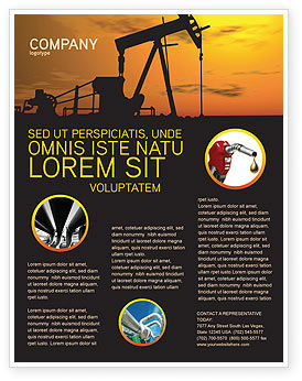 Utilities/Industrial: Oil Producer Flyer Template #03444