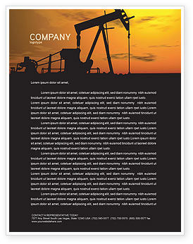 Utilities/Industrial: Oil Producer Letterhead Template #03444