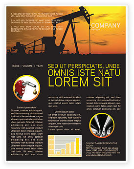 Utilities/Industrial: Modelo de Newsletter - produtor de petróleo #03444