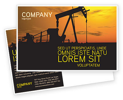 Oil Producer Postcard Template, 03444, Utilities/Industrial — PoweredTemplate.com