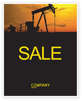 Oil Producer Sale Poster Template, 03444, Utilities/Industrial — PoweredTemplate.com