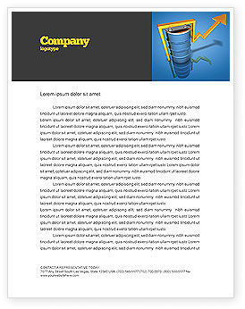 Petroleum Prices Letterhead Template, 03447, Financial/Accounting — PoweredTemplate.com