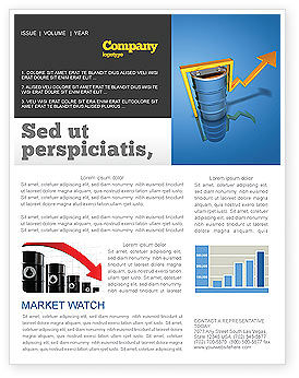 Petroleum Prices Newsletter Template, 03447, Financial/Accounting — PoweredTemplate.com