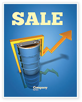 Petroleum Prices Sale Poster Template, 03447, Financial/Accounting — PoweredTemplate.com