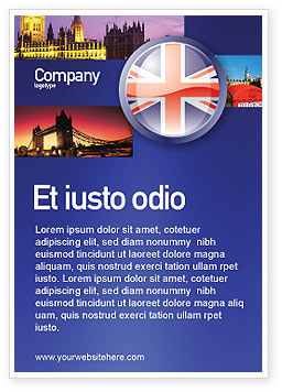 United Kingdom Ad Template, 03448, Flags/International — PoweredTemplate.com