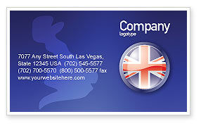 Flags/International: United Kingdom Business Card Template #03448