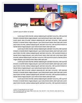 United Kingdom Letterhead Template, 03448, Flags/International — PoweredTemplate.com