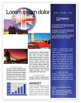 United Kingdom Newsletter Template, 03448, Flags/International — PoweredTemplate.com