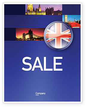 United Kingdom Sale Poster Template, 03448, Flags/International — PoweredTemplate.com