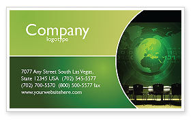 Global: Conference Hall Business Card Template #03451
