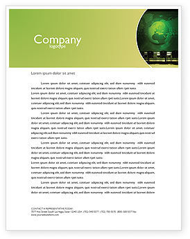 Global: Conference Hall Letterhead Template #03451