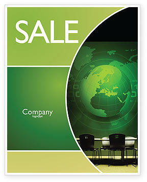 Conference Hall Sale Poster Template, 03451, Global — PoweredTemplate.com