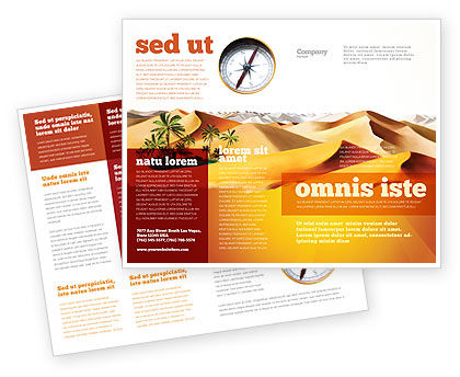 Nature & Environment: Oasis Brochure Template #03452