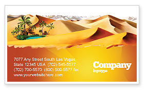 Nature & Environment: Oasis Business Card Template #03452