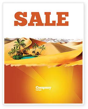 Oasis Sale Poster Template, 03452, Nature & Environment — PoweredTemplate.com