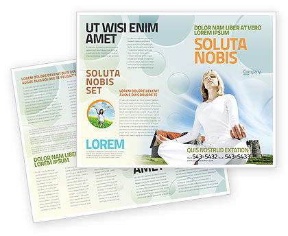 Countryside For Meditation Brochure Template Design And Layout