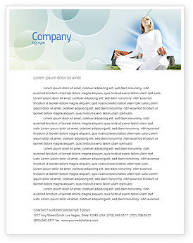 Religious/Spiritual: Countryside For Meditation Letterhead Template #03454