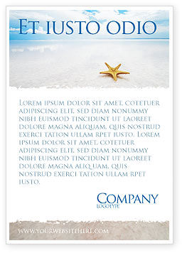Starfish Ad Template, 03456, Nature & Environment — PoweredTemplate.com