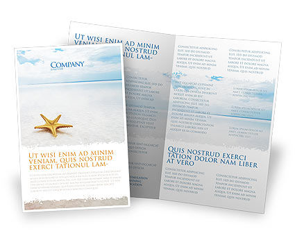 Starfish Brochure Template, 03456, Nature & Environment — PoweredTemplate.com