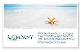 Starfish Business Card Template, 03456, Nature & Environment — PoweredTemplate.com