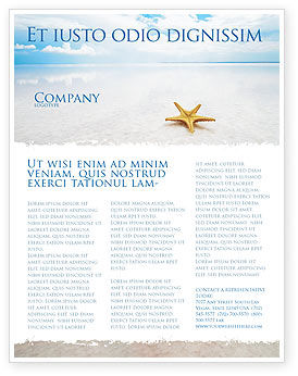 Starfish Flyer Template, 03456, Nature & Environment — PoweredTemplate.com