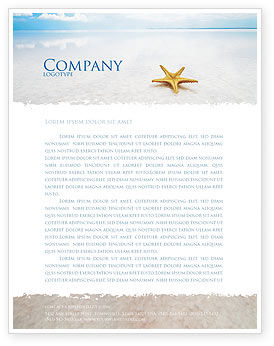 Nature & Environment: Starfish Letterhead Template #03456