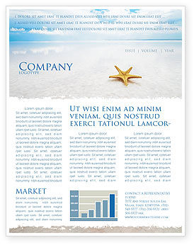 Starfish Newsletter Template, 03456, Nature & Environment — PoweredTemplate.com