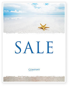 Starfish Sale Poster Template, 03456, Nature & Environment — PoweredTemplate.com
