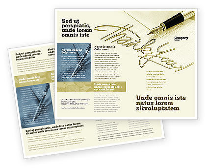 Business: Plantilla de folleto - gracias #03457