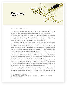 Business: Thank You Letterhead Template #03457
