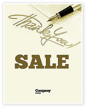 Business: Thank You Sale Poster Template #03457