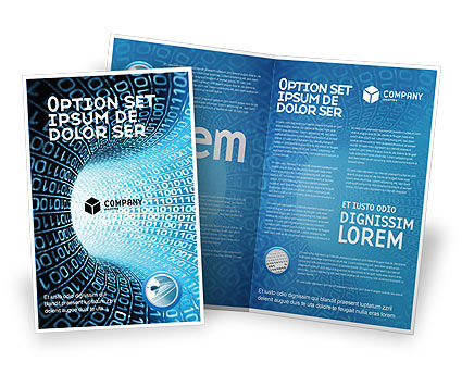 Technology, Science & Computers: Modello Brochure - Tubo codice binario #03458