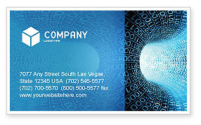 Technology, Science & Computers: Binary Code Tube Business Card Template #03458
