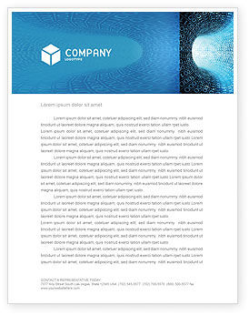 Technology, Science & Computers: Binary Code Tube Letterhead Template #03458