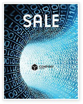 Technology, Science & Computers: Binary Code Tube Sale Poster Template #03458
