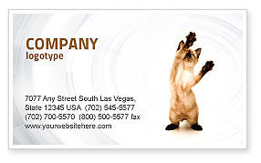 Kitten Business Card Template, 03459, Agriculture and Animals — PoweredTemplate.com