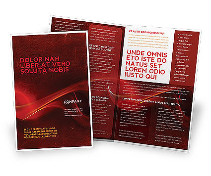 Abstract/Textures: Red Texture Brochure Template #03461