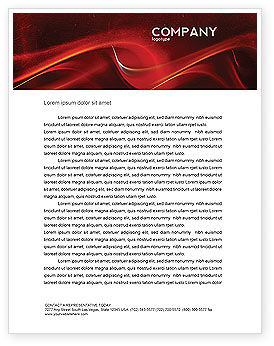 Red Texture Letterhead Template