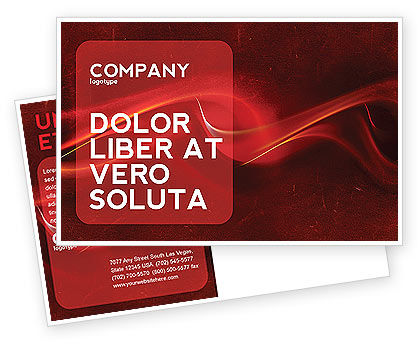 Red Texture Postcard Template, 03461, Abstract/Textures — PoweredTemplate.com