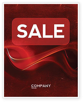 Abstract/Textures: Red Texture Sale Poster Template #03461