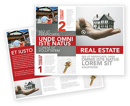 Habitation Brochure Template, 03467, Construction — PoweredTemplate.com