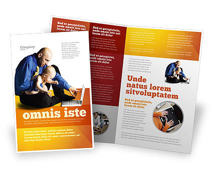 Education & Training: Computer Literacy Brochure Template #03473
