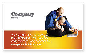 Education & Training: Computer Literacy Business Card Template #03473
