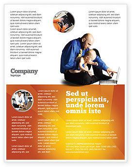 Computer Literacy Flyer Template, 03473, Education & Training — PoweredTemplate.com