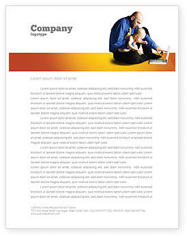 Education & Training: Computer Literacy Letterhead Template #03473