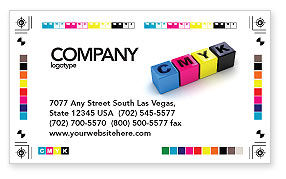 Careers/Industry: CMYK Business Card Template #03474