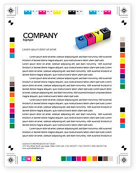 CMYK Letterhead Template, 03474, Careers/Industry — PoweredTemplate.com