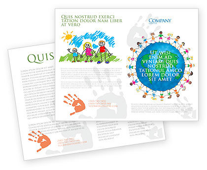 Global: Friendship And Unity Brochure Template #03475