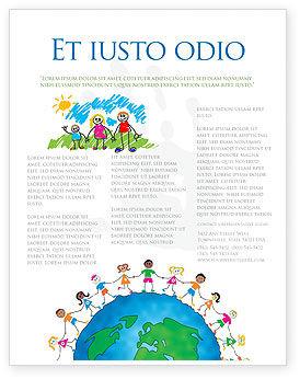 Global: Plantilla de volante - amistad y unidad #03475